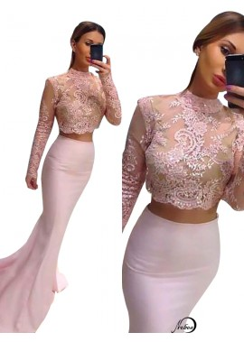 Two Piece Long Prom Evening Dress T801524704099