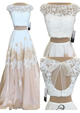 Two Piece Long Prom Evening Dress T801524703811