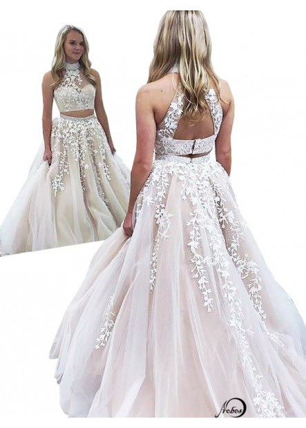 Two Piece Long Prom Evening Dress T801524703834