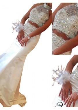 Two Piece Long Mermaid Long Prom Evening Dress T801524703936