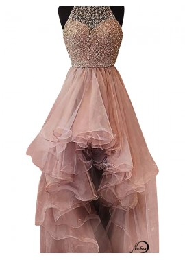 High Low Long Prom Evening Dress T801524703853