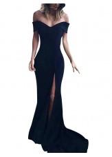 Black Long Prom Evening Dress T801524703580