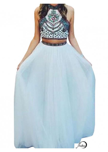 Two Piece Long Prom Evening Dress T801524704020