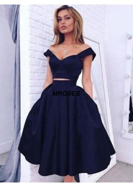 2 Piece Short Homecoming Prom Evening Dress T801524710117