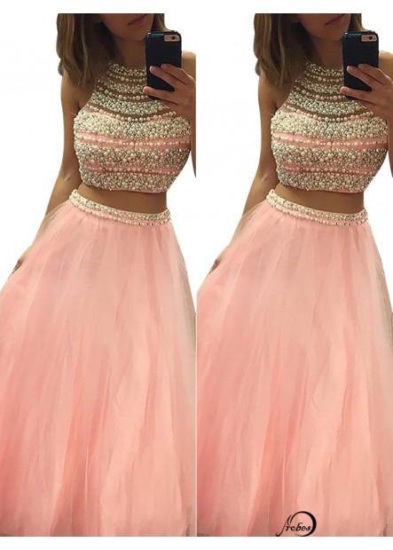 Two Piece Long Prom Evening Dress T801524704203