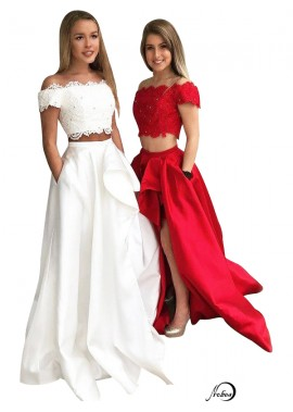 Two Piece Long Prom Evening Dress T801524703851