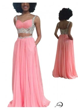 Two Piece Long Prom Evening Dress T801524706407