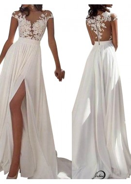 Sexy 2020 White Summer Beach Beach Long Wedding  / Evening Dresses T801524703573