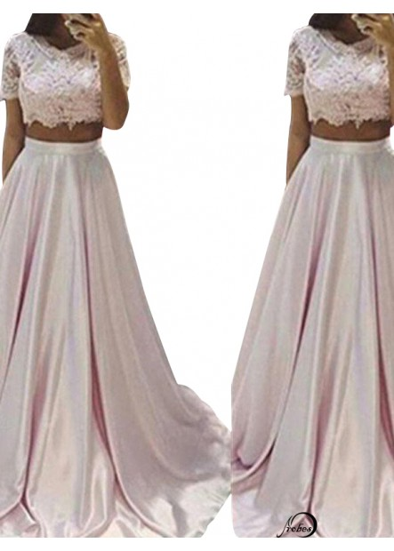 Two Piece Long Prom Evening Dress T801524705463