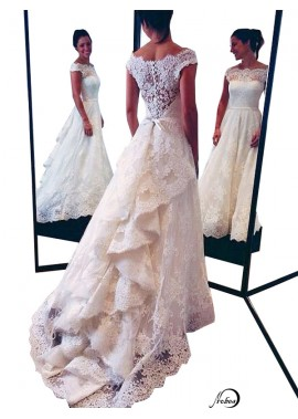 2021 Beach Lace Wedding Dresses T801524714681