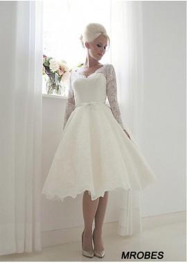 Short Lace Wedding Dress T801525383602