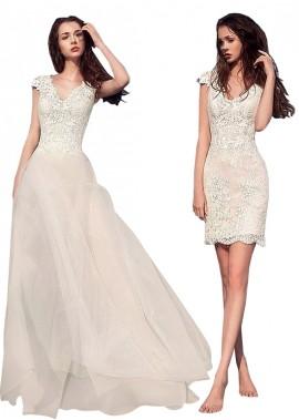 Beach Short Wedding Dresses T801525317586